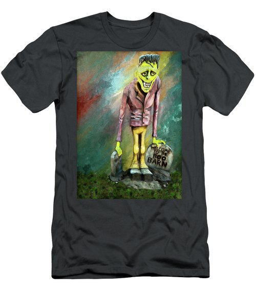 Frankie At The Boo Barn Men's T-Shirt (Athletic Fit)