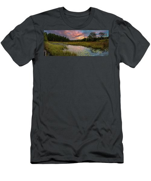 Friendship Panorama  Sunrise Landscape Men's T-Shirt (Athletic Fit)