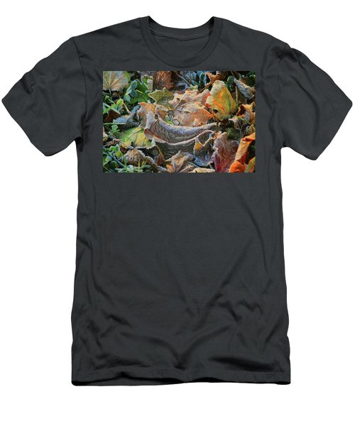 Frost On Leaves Men's T-Shirt (Athletic Fit)