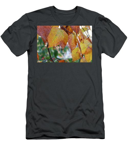Icy Foliage Men's T-Shirt (Athletic Fit)