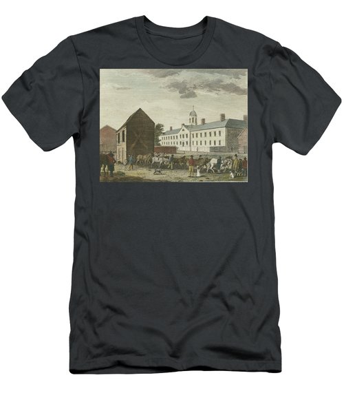 Gaol In Walnut Street Men's T-Shirt (Athletic Fit)