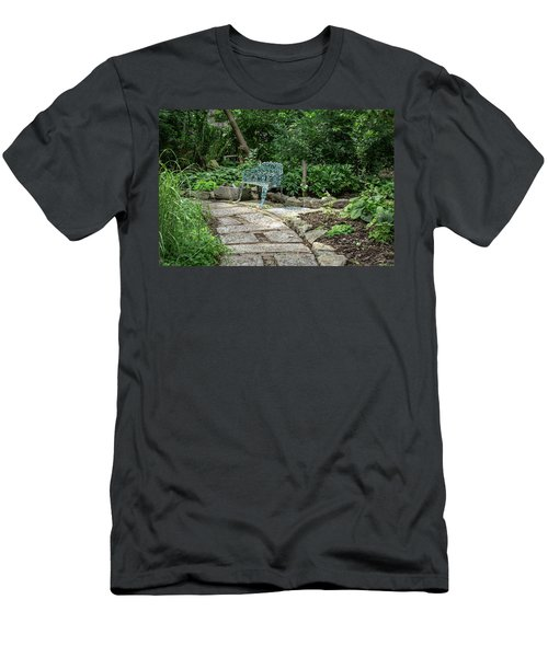 Men's T-Shirt (Athletic Fit) featuring the photograph Garden Bench by Dale Kincaid