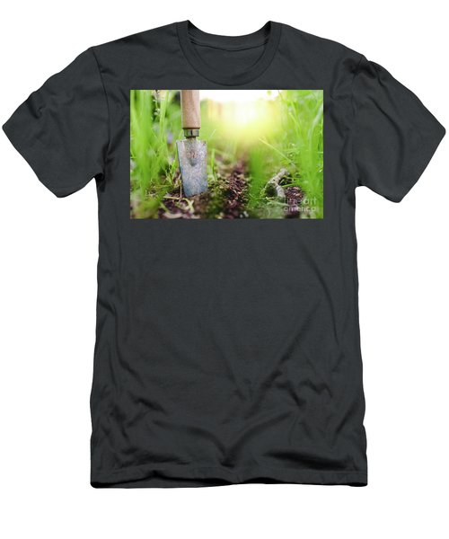 Gardening Shovel In An Orchard During The Gardener's Rest Men's T-Shirt (Athletic Fit)