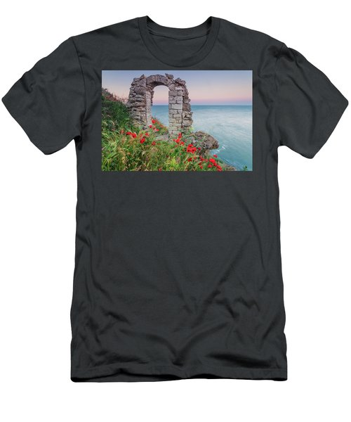 Gate In The Poppies Men's T-Shirt (Athletic Fit)