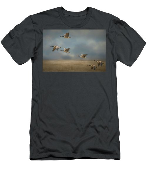 Geese, Coming In For A Landing Men's T-Shirt (Athletic Fit)