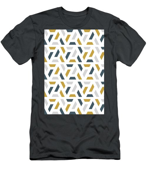 Men's T-Shirt (Athletic Fit) featuring the painting Geometric Painting 18 by Arttantra