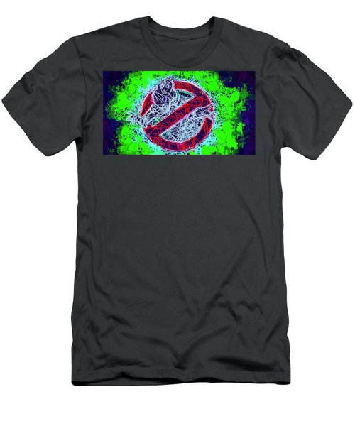 Men's T-Shirt (Athletic Fit) featuring the mixed media Ghostbusters Logo by Al Matra