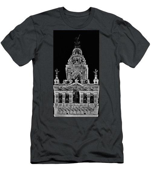 Giralda Tower In Monochrome. Seville Men's T-Shirt (Athletic Fit)