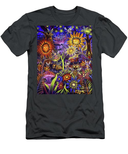 Glowing Fairy Forest Men's T-Shirt (Athletic Fit)