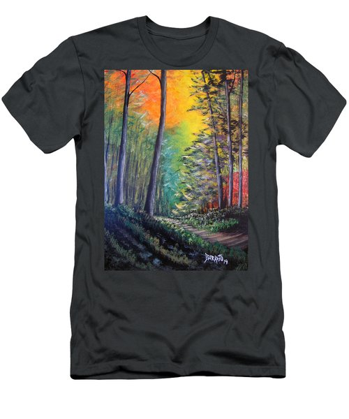 Glowing Forrest Men's T-Shirt (Athletic Fit)