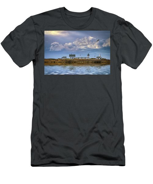Men's T-Shirt (Athletic Fit) featuring the photograph Goat Island Lighthouse by Rick Berk