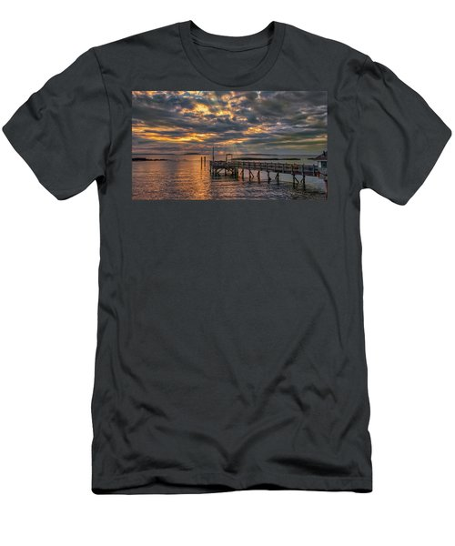 Men's T-Shirt (Athletic Fit) featuring the photograph Godrays Over The Pier by Guy Whiteley