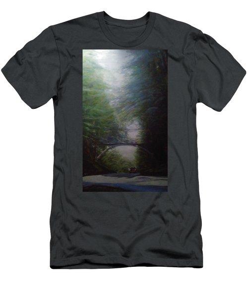 Going East Under The Forest Park Pedestrian Bridge Men's T-Shirt (Athletic Fit)