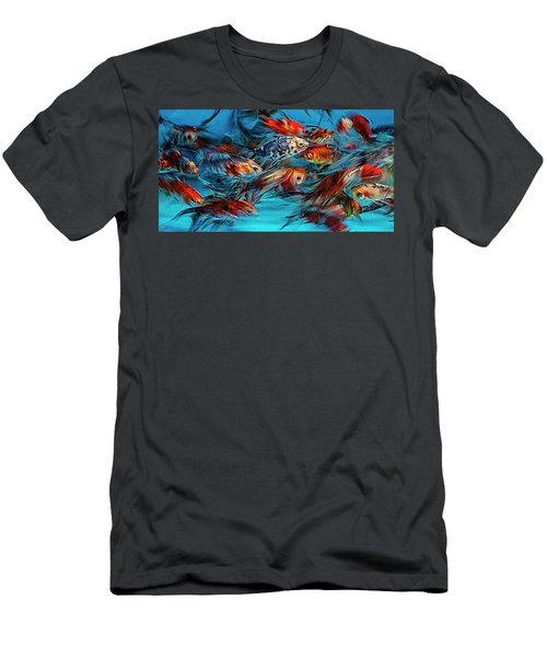 Gold Fish Abstract Men's T-Shirt (Athletic Fit)