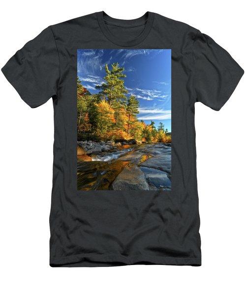 Golden Autumn Light Nh Men's T-Shirt (Athletic Fit)