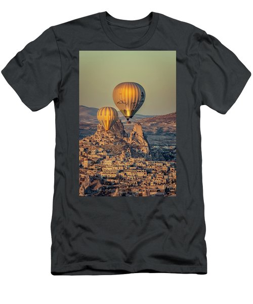 Men's T-Shirt (Athletic Fit) featuring the photograph Golden Hour Balloons by Francisco Gomez