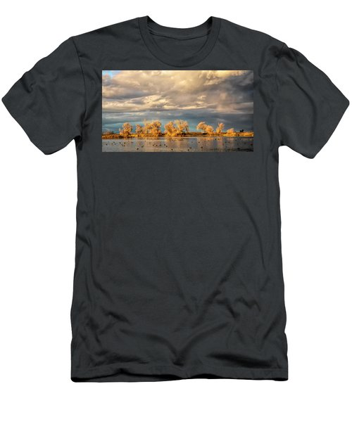 Golden Hour In The Refuge Men's T-Shirt (Athletic Fit)