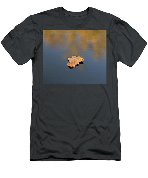 Golden Leaf On Water Men's T-Shirt (Athletic Fit)