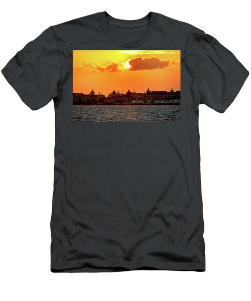 Golden Sky In Cancun Men's T-Shirt (Athletic Fit)