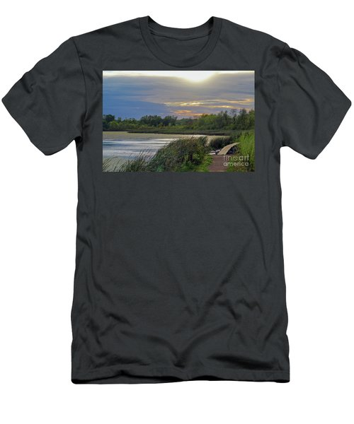 Golden Sunset Over Wetland Men's T-Shirt (Athletic Fit)