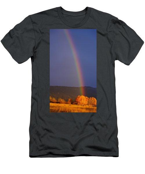 Golden Tree Rainbow Men's T-Shirt (Athletic Fit)