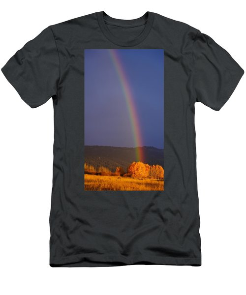 Golden Tree Rainbow Men's T-Shirt (Athletic Fit)