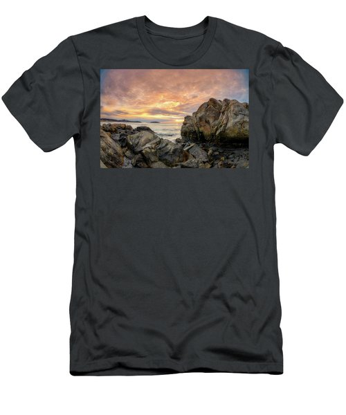 Men's T-Shirt (Athletic Fit) featuring the photograph Good Harbor Rock View 1 by Michael Hubley