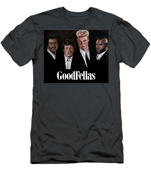 Men's T-Shirt (Athletic Fit) featuring the painting Goodfellas - Champions Edition by Joel Tesch
