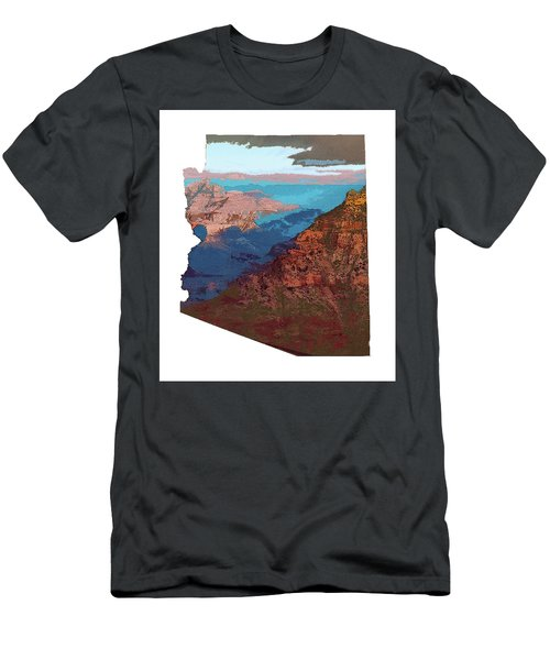 Grand Canyon In The Shape Of Arizona Men's T-Shirt (Athletic Fit)