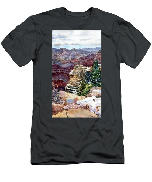 Grand Canyon Winter Day Men's T-Shirt (Athletic Fit)