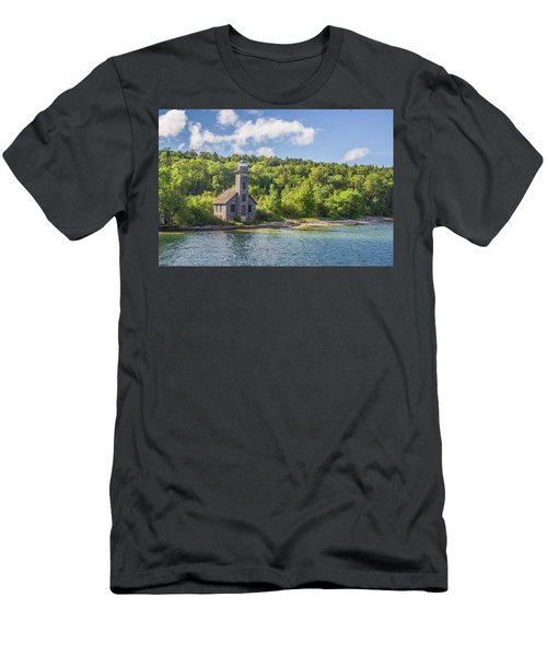 Grand Island East Channel Lighthouse Men's T-Shirt (Athletic Fit)