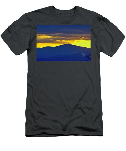 Grandmother Mountain Sunset Men's T-Shirt (Athletic Fit)