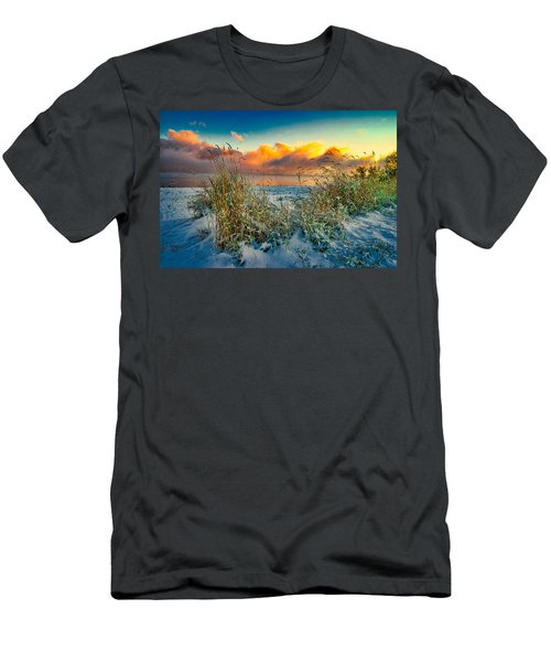 Grass And Snow Sunrise Men's T-Shirt (Athletic Fit)