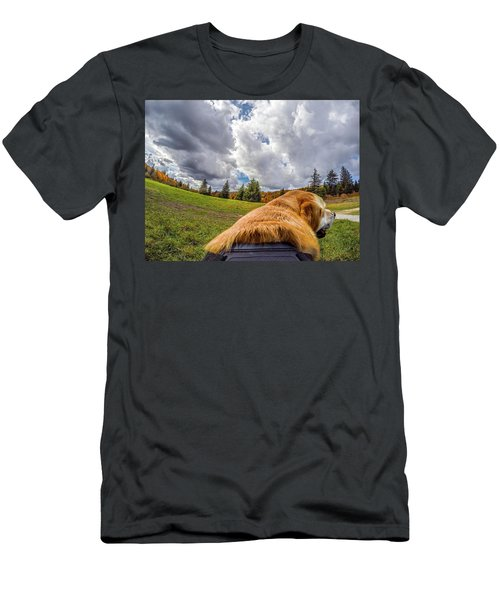 Men's T-Shirt (Athletic Fit) featuring the photograph Grayson Highlands Color By Jackson by Matthew Irvin