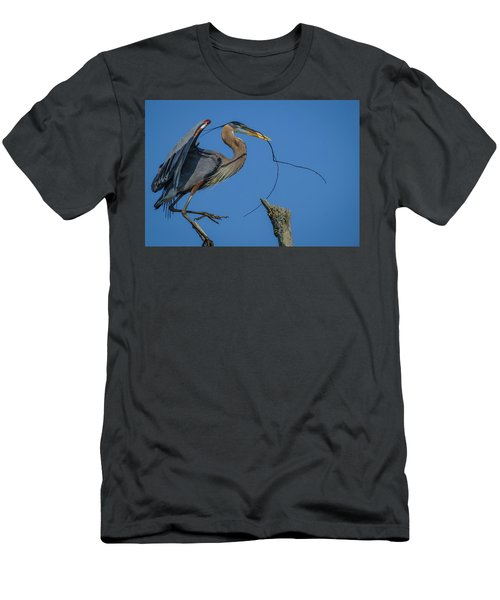 Great Blue Heron 4034 Men's T-Shirt (Athletic Fit)