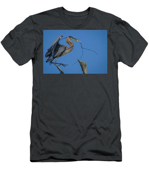 Great Blue Heron 4034 Men's T-Shirt (Athletic Fit)