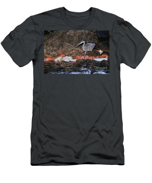 Men's T-Shirt (Athletic Fit) featuring the photograph Great Blue Heron by Debbie Stahre