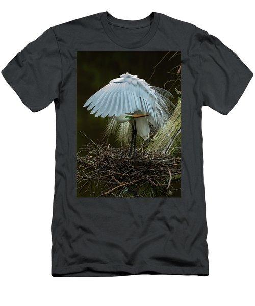 Great Egret Beauty Men's T-Shirt (Athletic Fit)