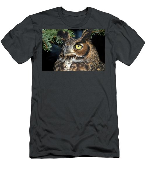 Great Horned Owl 10181801 Men's T-Shirt (Athletic Fit)