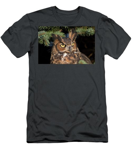 Great Horned Owl 10181802 Men's T-Shirt (Athletic Fit)