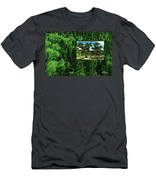 Men's T-Shirt (Athletic Fit) featuring the photograph Green As Ever Forest by Mike Braun