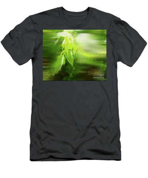 Green Leaves Men's T-Shirt (Athletic Fit)