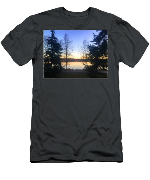 Greenlake Dawn Evergreens Men's T-Shirt (Athletic Fit)