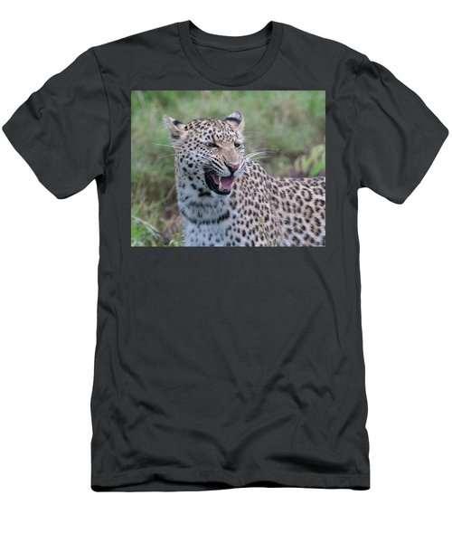 Grimacing Leopard Men's T-Shirt (Athletic Fit)