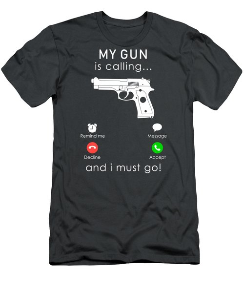 Gun Is Calling And I Must Go Tee Men's T-Shirt (Athletic Fit)