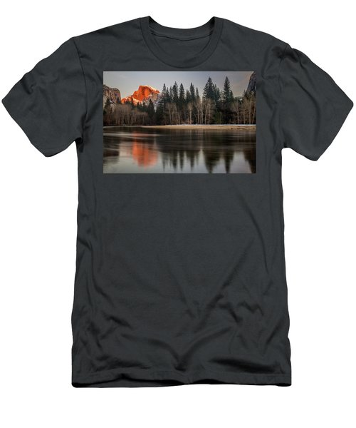 Half Dome Sunset In Winter Men's T-Shirt (Athletic Fit)