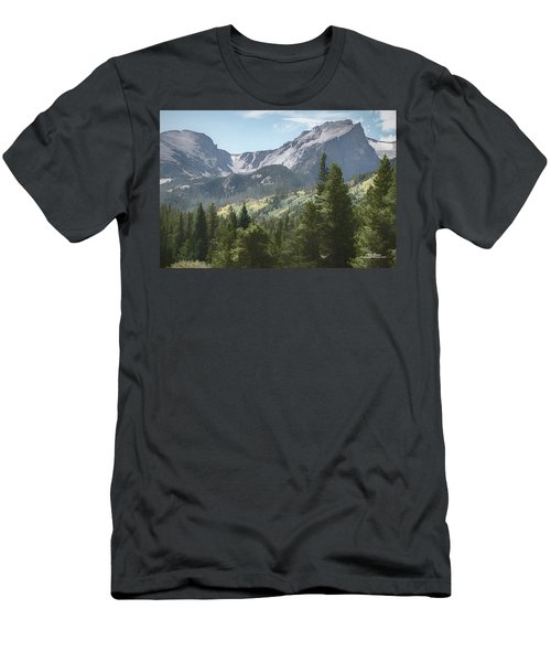 Hallett Peak Colorado Men's T-Shirt (Athletic Fit)