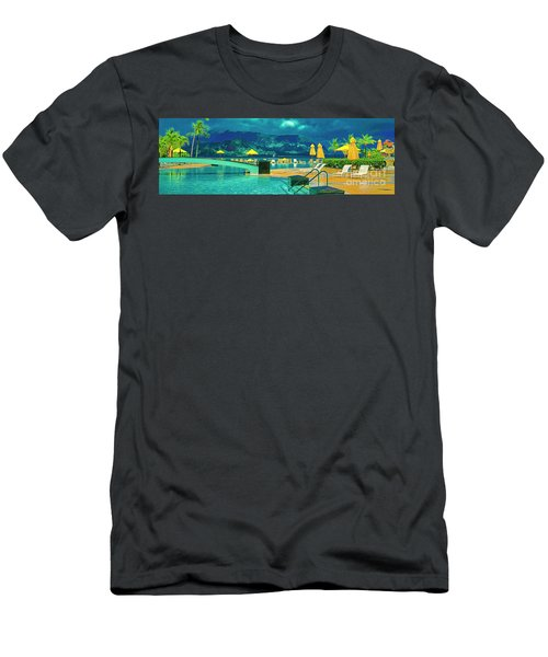 Men's T-Shirt (Athletic Fit) featuring the photograph Hanalei Bay Bali Hai Hawaii by Tom Jelen