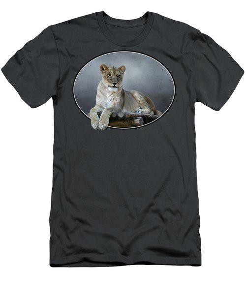 Happy Lioness Men's T-Shirt (Athletic Fit)