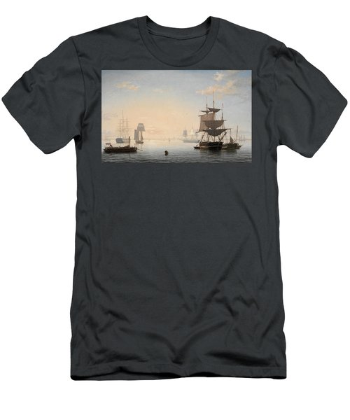 Harbor Of Boston, With The City In The Distance, 1847 Men's T-Shirt (Athletic Fit)